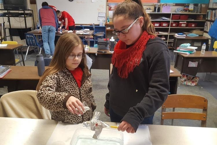 St. Paul's Students Working on a Science Project