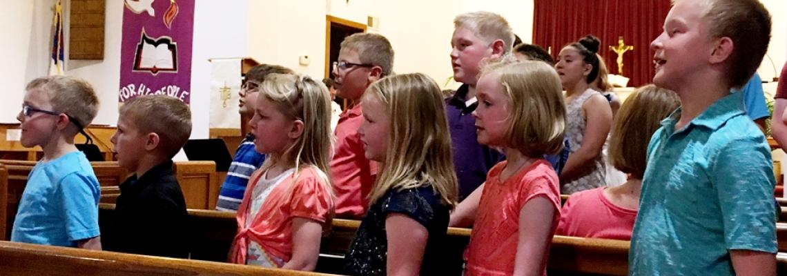 St. Paul's Lutheran School Students Singing - Latimer, IA